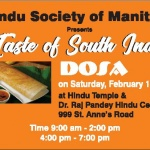 Taste of South India on Feburary 17, 2018